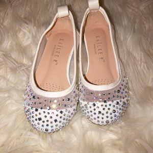 Other - White Glitter Slippers